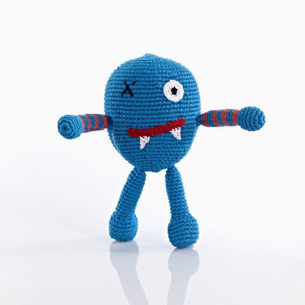 Pebble: Chubby Monster – Scary Blue