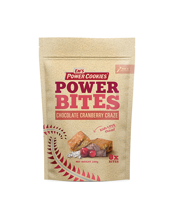 Em's Power Bites Pouch - Chocolate Cranberry Craze Multi Pack (8 Pack)