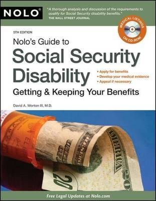 Nolo's Guide to Social Security Disability: Getting & Keeping Your Benefits by David Morton image