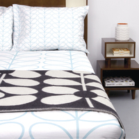 Orla Kiely King Duvet Cover - Linear Stem (Duck Egg)