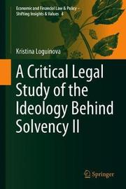 A Critical Legal Study of the Ideology Behind Solvency II by Kristina Loguinova