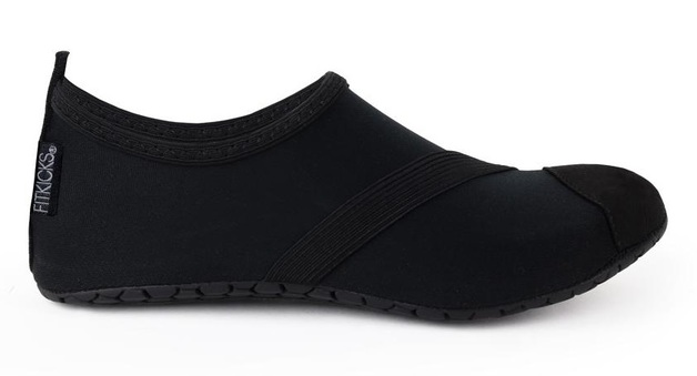 Fitkicks: Foldable Active Footwear - Black (Large)