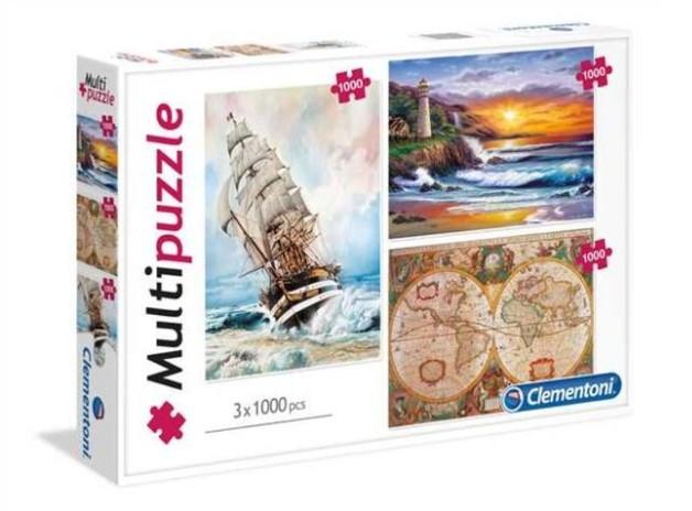 Clementoni: Adventure Special 3 puzzles - Travel theme - 1000pc Puzzle