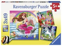 Ravensburger - Mythical Creatures Puzzle (3x49pc)