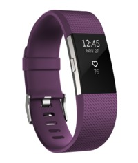 Fitbit: Charge 2 Heart Rate + Fitness Wristband - Large (Plum)