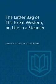 The Letter Bag of the Great Western; by Thomas Chandler Haliburton