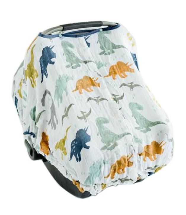 Little Unicorn: Muslin Car Seat Canopy - Dino Friends