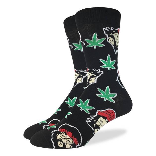 Good Luck Socks: Men's Cheech & Chong Socks - (Shoe Size 7-12)