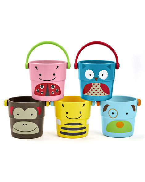Skip Hop: Zoo Bath Stack & Pour Buckets