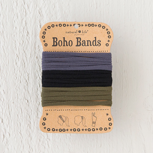 Natural Life: Boho Bands - Neon/Black/Olive/Charcoal (Pack of 3)