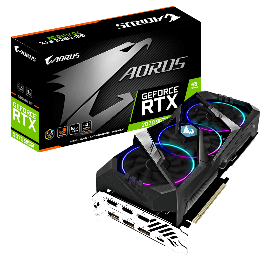Gigabyte RTX 2070 SUPER 8GB AORUS image