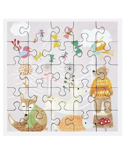 Floss & Rock: 25-Piece Mini Jigsaw Puzzle - Woodland
