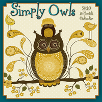 Simply Owls 2019 Square Wall Calendar by Next Day Art