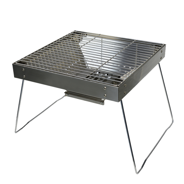 Premium Stainless Steel Portable Charcoal BBQ Grill (45x35.5x28cm)