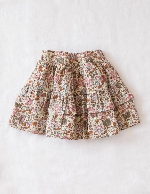 Karibou Kids: Summer Dream Ladies Ruffled Skirt - Wild Meadow 14