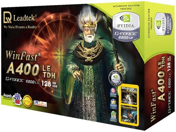 Leadtek Graphics Card WinFast A400 LE TDH 128M 6800 AGP image