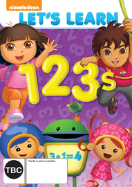 Nickelodeon: Let's Learn 1, 2, 3's on DVD image