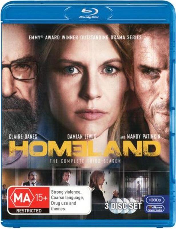 Homeland - The Complete Third Season on Blu-ray