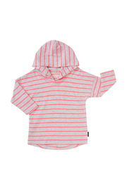 Bonds Salt & Pepper Hoodie T-Shirt - Stripe Neo Heart (0-3 Months)