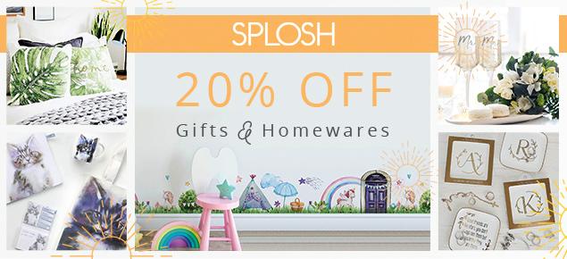 20% off Splosh Gifts & Homewares!