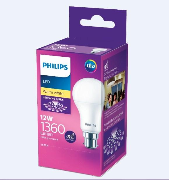 Philips: LED Bulb 12W B22 3000K