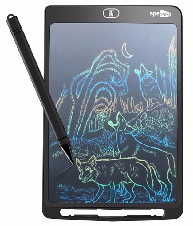 Ape Basics LED Kids Writing Education Tablet Black