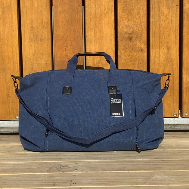 Moana Road: The Marlborough Overnight Bag - Blue