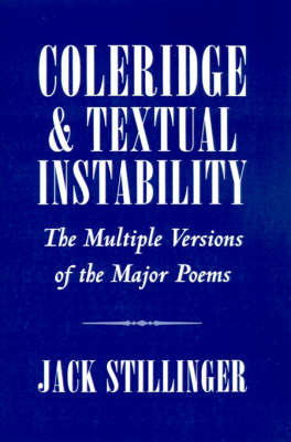 Coleridge and Textual Instability by Jack Stillinger