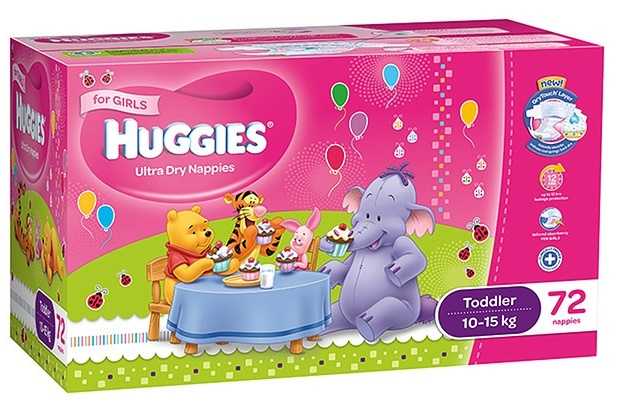 Huggies Ultra Dry Nappies: Jumbo Pack - Toddler Girl 10-15kg (72) image