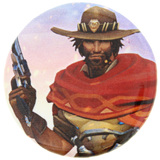 Overwatch McCree Button