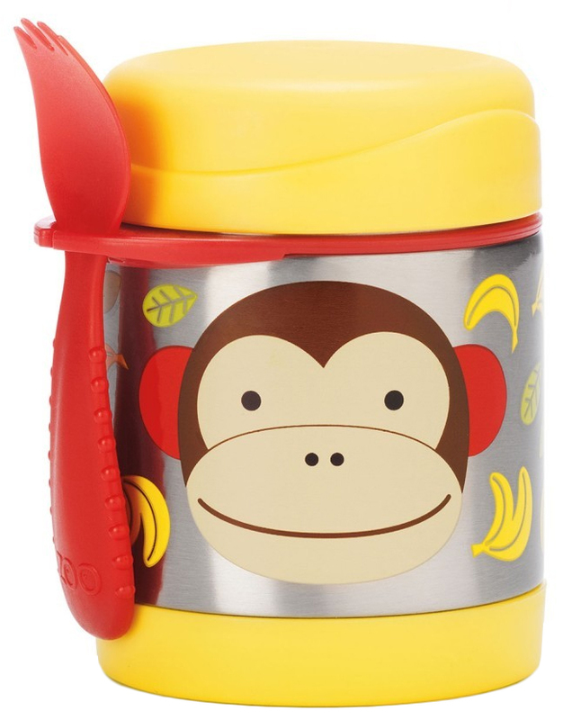 Skip Hop: Zoo Insulated Food Jar - Monkey
