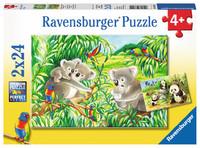 Ravensburger : Sweet Koalas and Pandas Puz 2x24pc