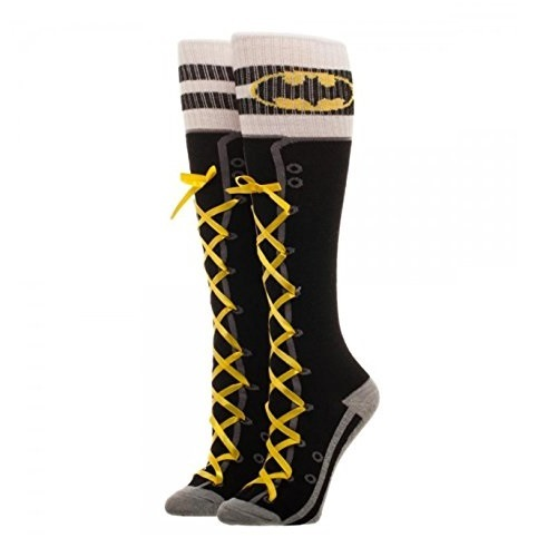 DC Comics: Batman Laceup - Knee High Socks