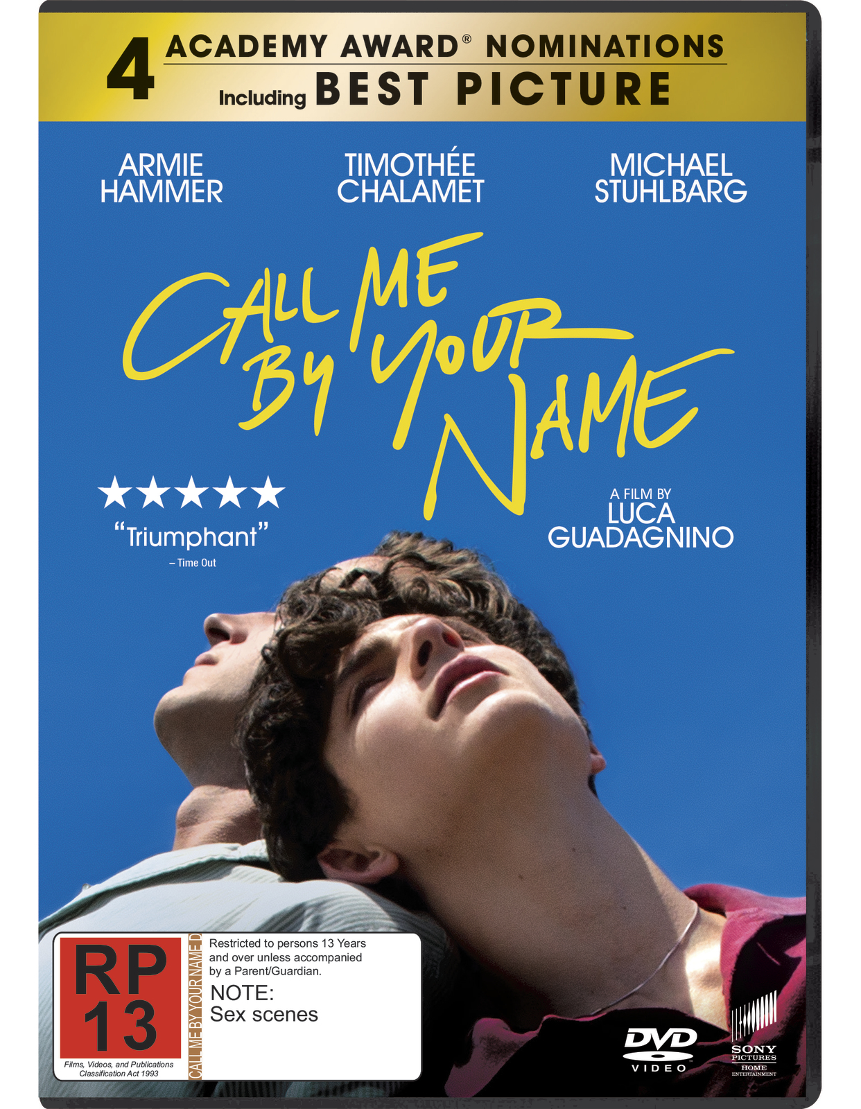 Call Me By Your Name on DVD image