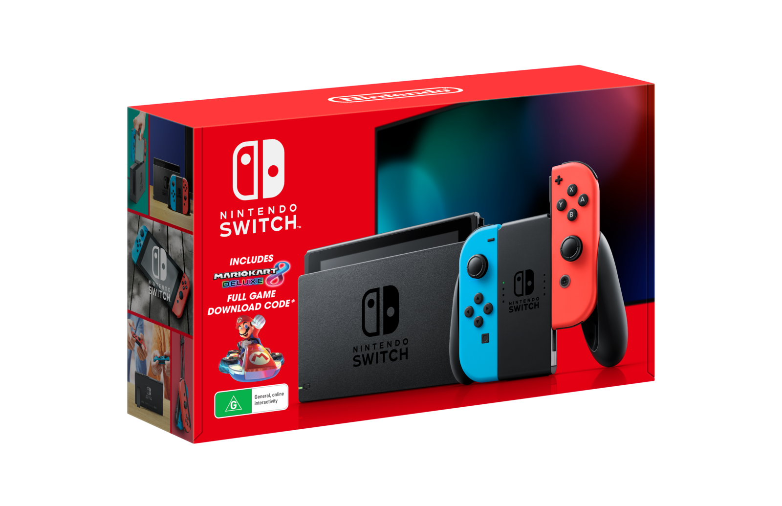 Nintendo Switch Mario Kart 8 Deluxe Neon Console Bundle for Switch image