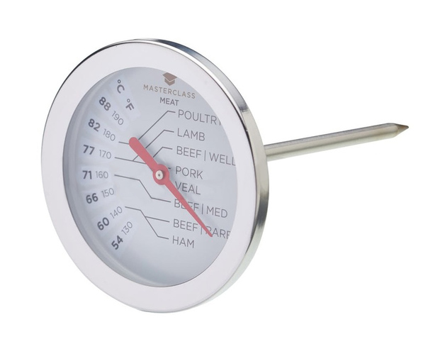 MasterClass: Large Stainless Steel Meat Thermometer (54°C to 88°C)