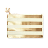 Kate Spade Pencil Pouch (Gold Stripe)