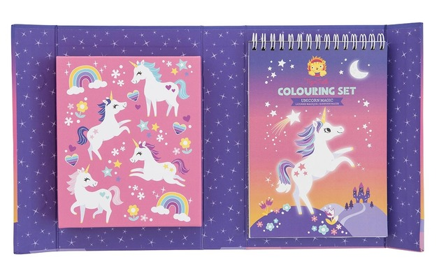 Tiger Tribe: Colouring Set - Unicorn Magic