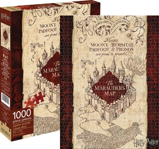 Harry Potter: 1000pc Marauder's Map Themed Puzzle