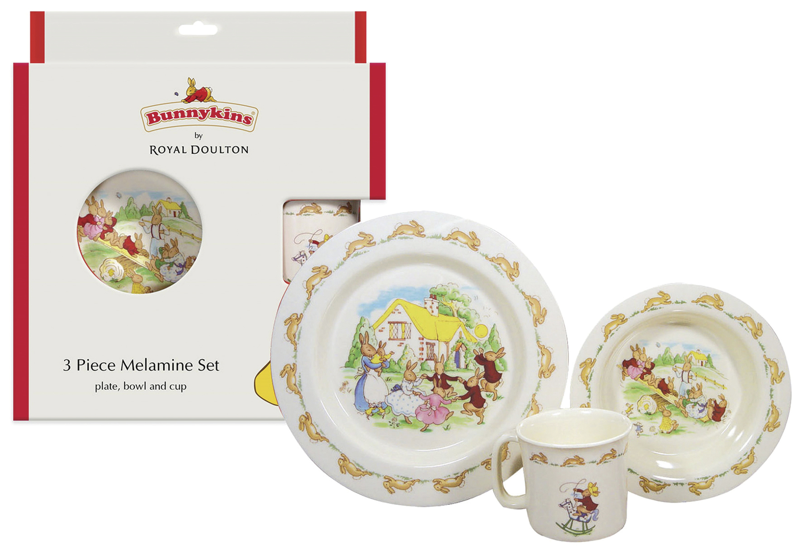 Bunnykins 3 Piece Melamine Set - Royal Doulton image