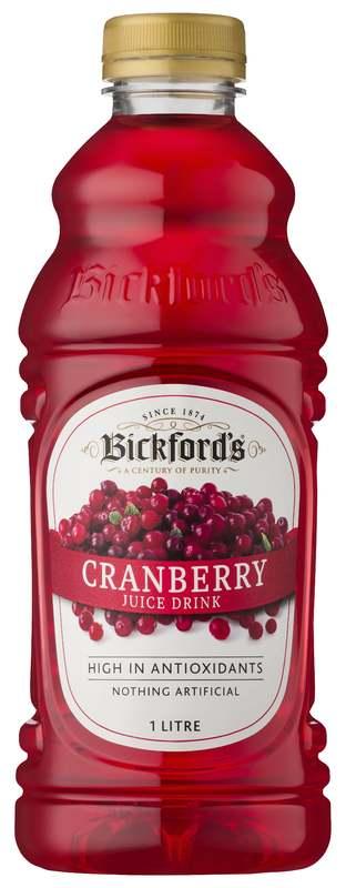 Bickfords: Premium Juice - Cranberry 1L