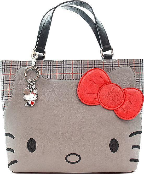 Loungefly: Hello Kitty - Grey Crossbody Bag with Bow