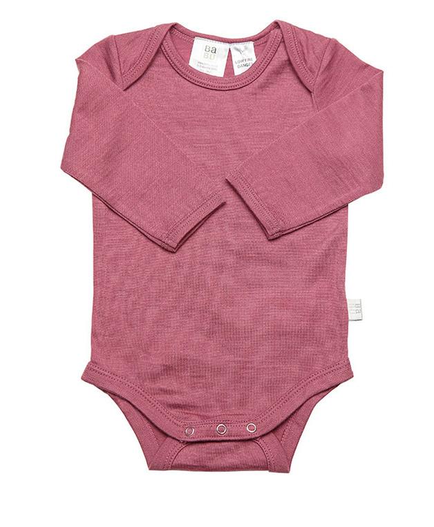 Babu Merino Bodysuit - Pink Heather (1-2 years)