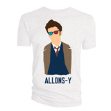 Doctor Who 10th Doctor Allons-Y Vector T-Shirt (X-Large)