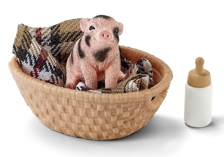 Schleich – Mini-Pig With Bottle image