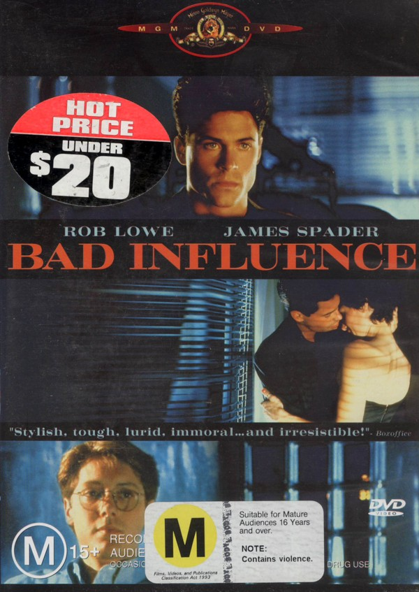 Bad Influence on DVD image