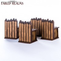 "Fabled Realms: Four 1.5"" Palisade Walls"