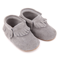 Skeanie: Pre-Walker Moccasins Grey - Medium image