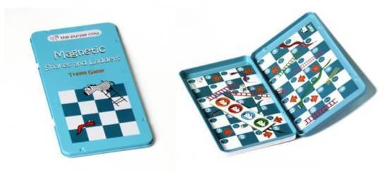 To Go: Magnetic Travel Game - Snakes & Ladders