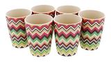 Set of 6 Bamboo Cups - Aztec Zig-Zag